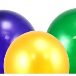 12in Metallic Purple/Green/Yellow Balloons