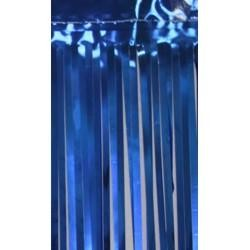 3ft Wide x 8ft Tall Metallic Blue Door Curtain