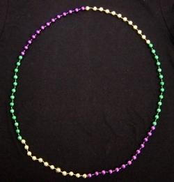 60in 16mm Round Section Metallic Purple/ Green/ Gold Beads