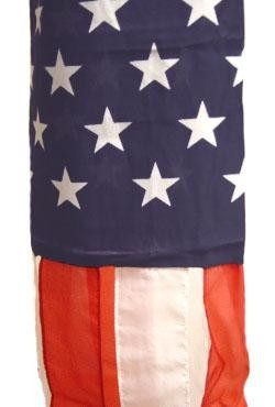 5ft x 5in Polyester Rayon USA Flag Windsock