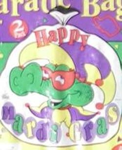 30in x 36in Happy Mardi Gras Lawn Bag/ Throws Catcher