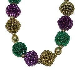 Mardi Gras Berry Bead Necklace