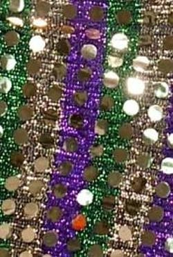 Metallic Purple-Green-Gold Sequin Type Material Jester Hat