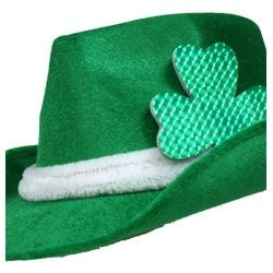 12in Long x 11in Wide x 5.5in High Felt St. Patricks Day Fedora Hat
