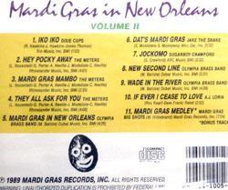 Mardi Gras In New Orleans Vol 2 CD