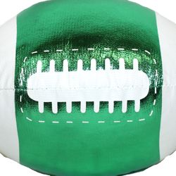 4in x 6in Metallic Green Vinyl Football