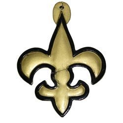 4in Tall x 3in Wide Black and Gold Fleur-De-Lis Medallion
