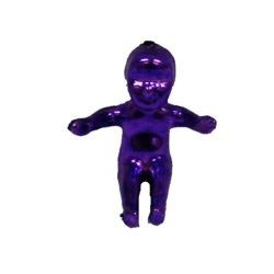 0.75in Small King Cake Baby Metallic Purple/ Green/ Gold