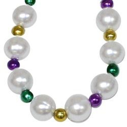 White Pearl Bead with PGG Spacers