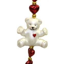 Teddy Bear Red Heart Necklace