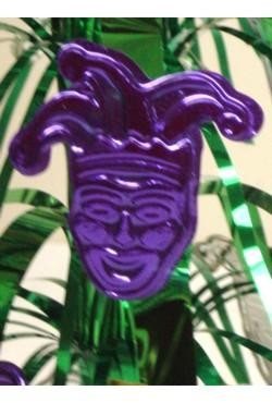 14in Mini Green Fountain Centerpiece w/ Gold/ Purple Jester Face