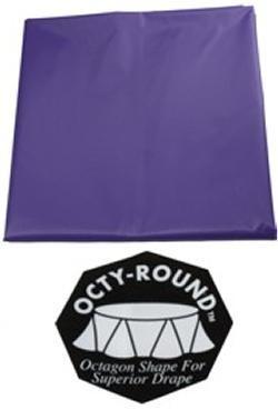 82in Purple Round Heavy Duty Plastic Purple Tablecovers