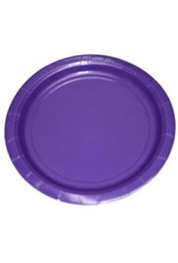 7in Purple Heavy Duty Plastic Plates
