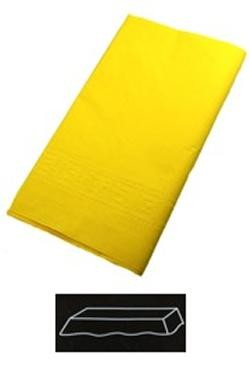 54in x 108in Yellow Plastic Lined Paper Tablecovers