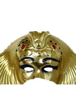 15in x 8in Metallic Egyptian Half Face Mask