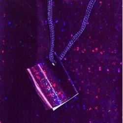 12 .5in x 10in x 5.5in Purple Hologram Shopping Bag