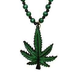 Naughty Beads: Marijuana Leaf Necklace