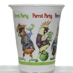 16oz 4 1/2in Caribbean Parrot Party Plastic Cups