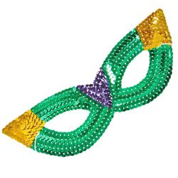 Eye Masks: Mardi Gras Sequin Cat Eye Mask
