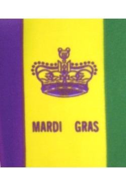 12in x 18in Polyester Crown Flag with Mardi Gras