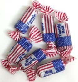 1lb USA Flag Tootsie Roll Chocolate Candy