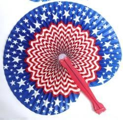 10in Star/ Stripe Folding Fans
