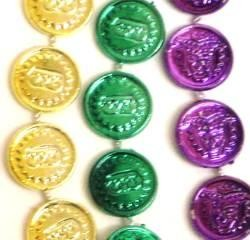 33in Metallic 6 Assorted Color Casino Coins/ Dollar/ Money Beads