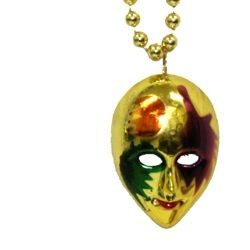 Painted Mask Necklace