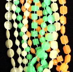 48in 6-Style Glow in the Dark Green/ Yellow/ Orange Beads