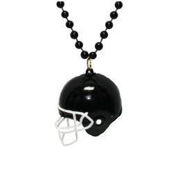 Black Football Helmet Necklace