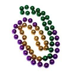 48in 16mm Round 3 Section Metallic PGG Beads
