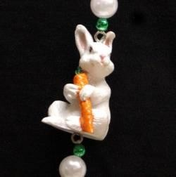 42in Easter Bunny w/ Pearl Beads