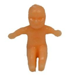 0.75in Small King Cake Baby Flesh Tone