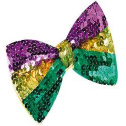 5.5in x 3.5in Mardi Gras Sequin Bow Tie