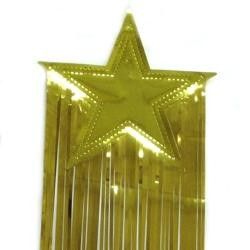 8in x 36in Gold Star Drop Fringe