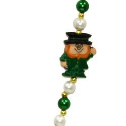 42in Leprechaun w/ Pearl/ Green Beads