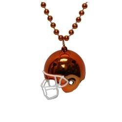 Orange Football Helmet Necklace