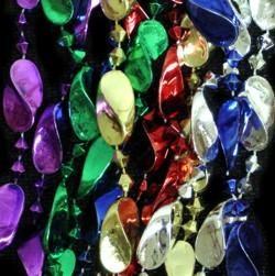 72in Metallic 6 Assorted Color Big Twist Beads