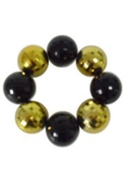 30mm Black and Gold Disco Ball Bracelet