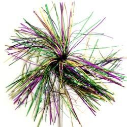 5.5in x 17in Mardi Gras Tinsel Wands