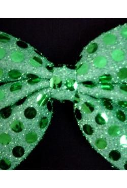 7in x 4 1/4in Glitz N Gleam Bow Tie Green