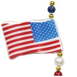 American Flag Bead