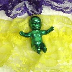 Purple Green or Yellow Mardi Gras Garters