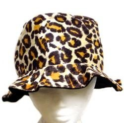 4in Tall Assorted Felt Animal Print Bucket Hats