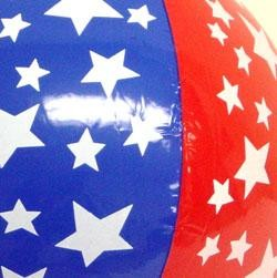 9in Inflatable Stars And Stripes Beach Ball
