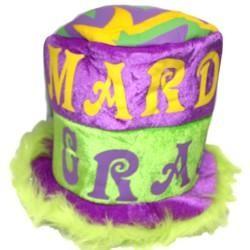 10in Tall Mardi Gras Furry Hat