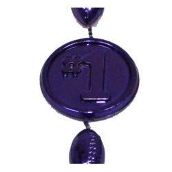 33in Metallic Purple Number 1 Football Beads