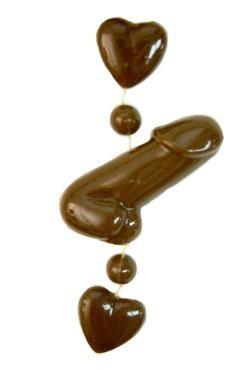33in Dark Brown Penis Beads