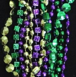 60in 6-Style Super Mix Metallic Purple/ Green/ Gold Beads