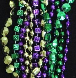 60in 6-Style Super Mix Metallic Purple/ Green/ Gold Beads